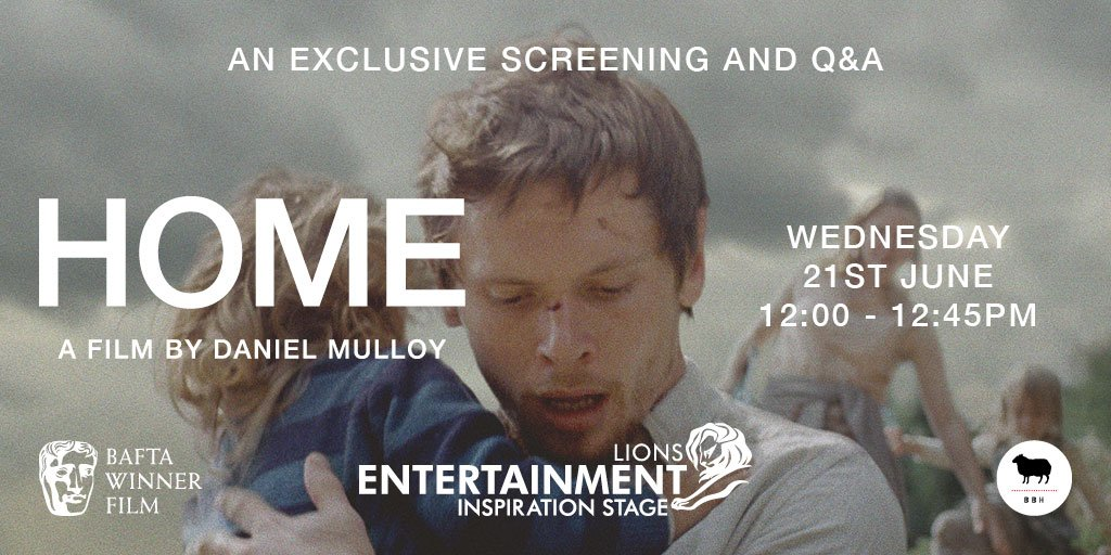 At @Cannes_Lions next week? Don't miss the exclusive screening and Q&A of our BAFTA-winning short film HOME https://t.co/IN0bQkMWCV