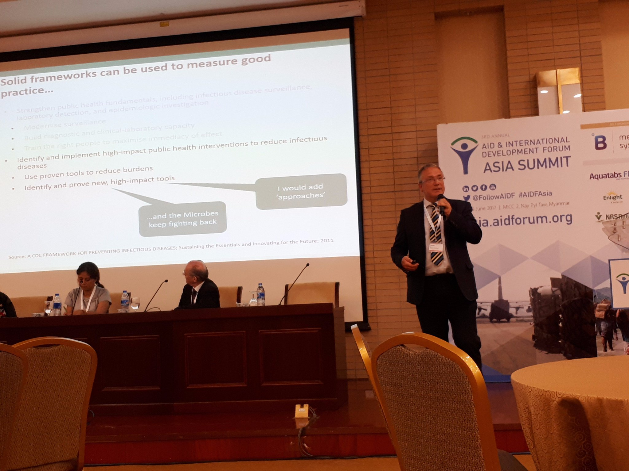 CEO Charles Nelson presenting at #AIDFAsia on Innovations and Best Practice to Tackle #CommunicableDiseases @FollowAIDF https://t.co/RiGNuEdaKD