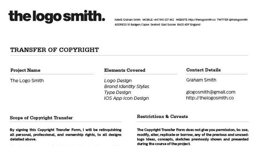 the logo smith logo brand designer on twitter logo design copyright transfer form template for download httpstcofsr1jmx7qi logo logodesign