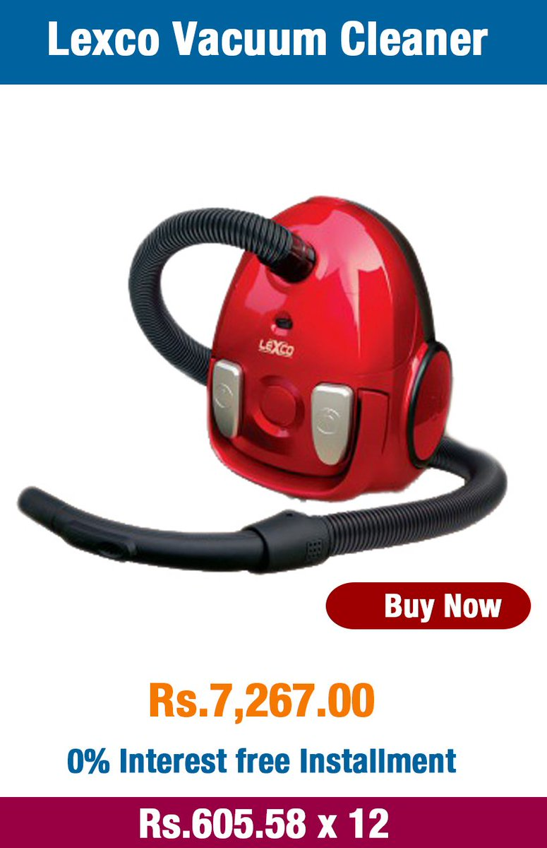 Speed controllable Lexco Vacuum Cleaner with a reusable dust bag for just Rs.7,267 Buy Now : https://t.co/szF49vuYW6 https://t.co/ruXyKrfCom