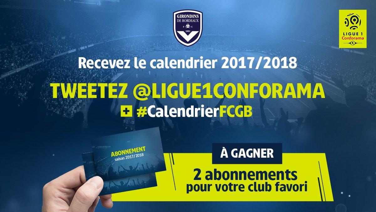 Calendrier Des Girondins De Bordeaux.Fc Girondins De Bordeaux On Twitter Le Calendrier 2017