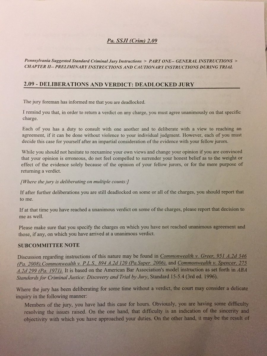 Pa criminal jury instructions.