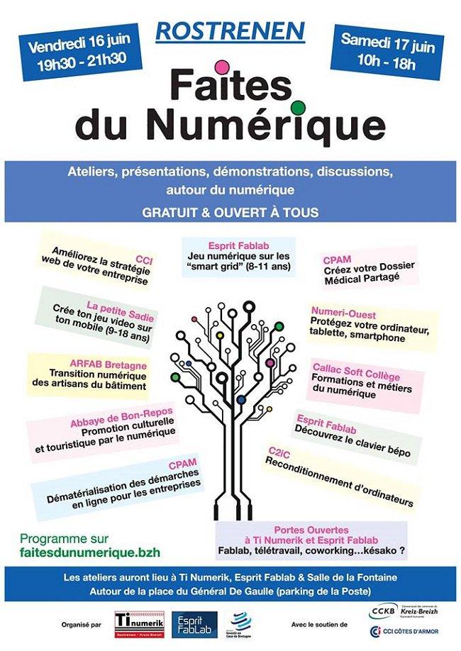 Faîtes du Numérique à Rostrenen (22) les 16 et 17 juin avec @Tinumerik @AssoAICB @CCI_22  ... https://t.co/wCoSbcckRE https://t.co/Mlye9c8qRD