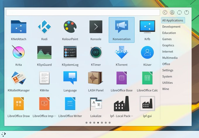 Simple Menu, un lanzador de aplicaciones alternativo para KDE Plasma 5