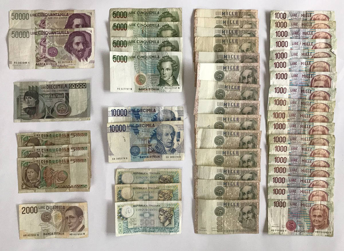 Ends Sunday 18th June 47 MIXED ITALIAN BANKNOTE COLLECTION   http://www. ebay.co.uk/itm/47-MIXED-I TALIAN-BANKNOTE-COLLECTION-ITALY-EUROPE-1114-/302341015154?ssPageName=STRK:MESE:IT &nbsp; …  #Italy #Banknotes #Collectibles #lire #vintage #old<br>http://pic.twitter.com/y1Wvygx9zA
