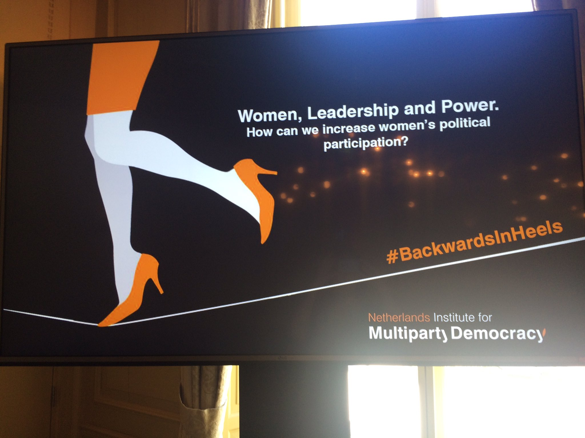 How can we increase women's political participation? #HappeningNow:Debate on women, leadership and power. #BackwardsInHeels https://t.co/nS9H4vwy1a