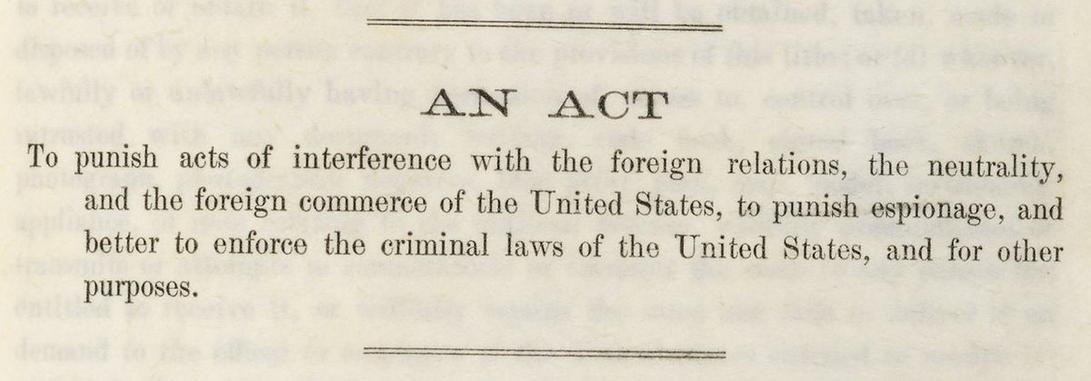 an analysis of the espionage act of 1917 in the united states
