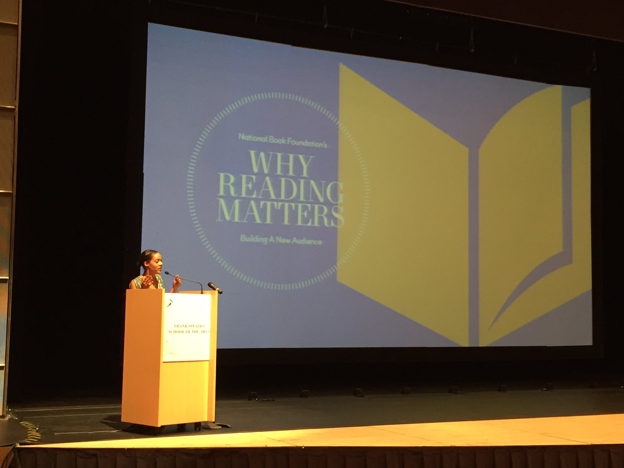 Our Executive Director, @likaluca, welcomes everyone to the second annual Why #ReadingMatters conference. https://t.co/wZQiBYxtYf