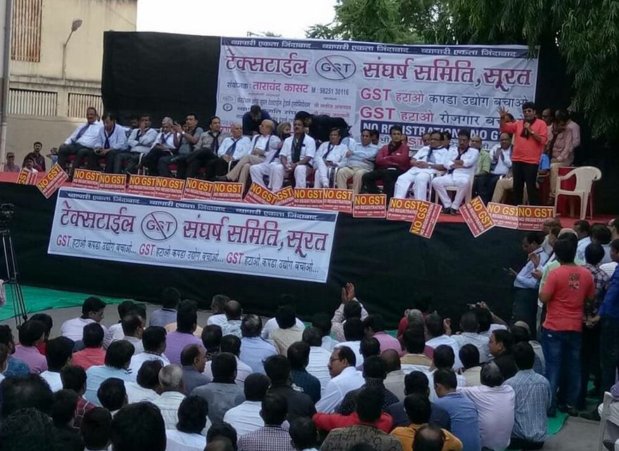 Textile, food-grain and kirana markets across Gujarat remain bandh over GST