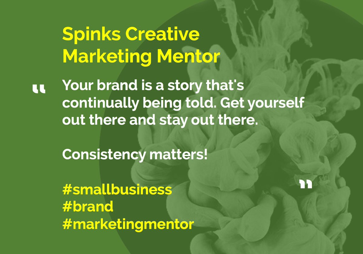 RT @SpinksCreative Your brand is a story that&#39;s continually being told. Get yourself out there and stay out there.  #brand #marketingmentor <br>http://pic.twitter.com/XQnq7kvXtu