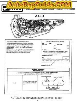 A4ld Repair Manual Free