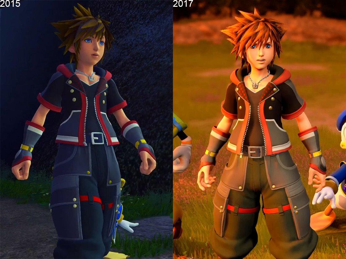 [KH3] Kingdom Hearts III Sora 2015 vs 2017 comparison ...