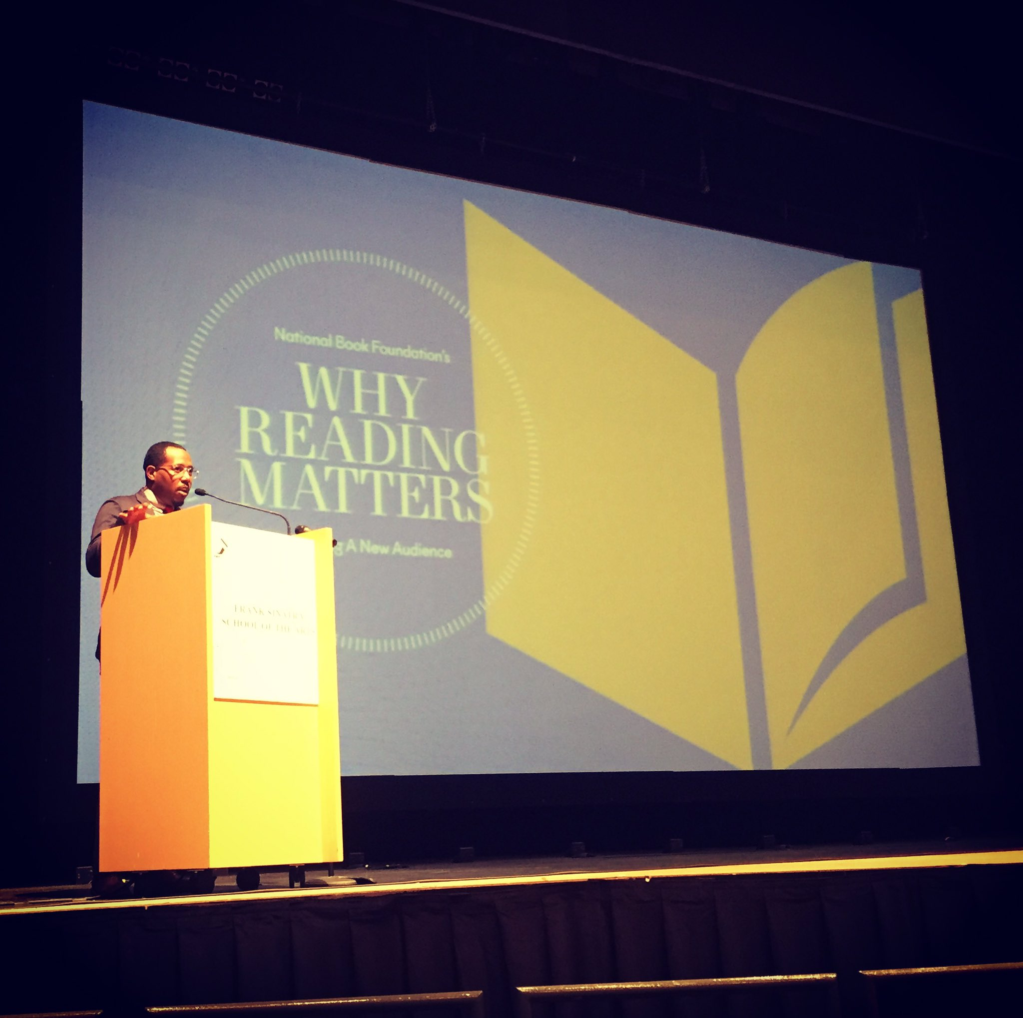 @AlvinIrby is speaking @nationalbook Why #ReadingMatters !!! # https://t.co/UDQkCYbniy