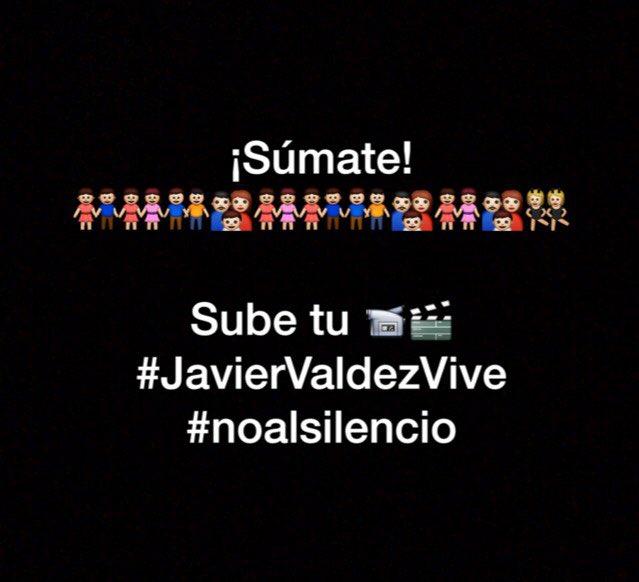 Estamos grabando vídeos con textos d #javiervaldez súmate y sube tu video. #NoAlSilencio #nuestravozesnuestrafuerza https://t.co/00hMGx7hgz