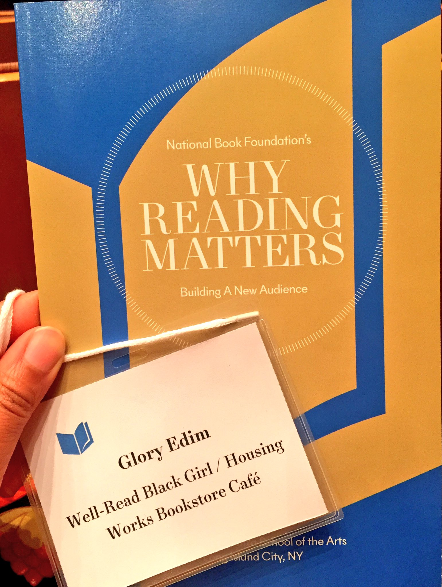 """""""Books need readers and readers need exposure to books that reflect and enrich their lives.""""  Thank you, @nationalbook! #ReadingMatters https://t.co/ykgltMRqwN"""