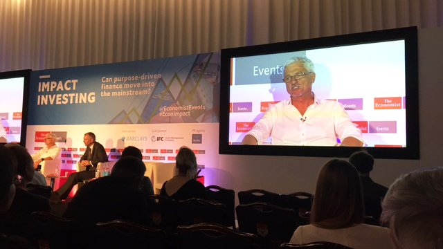 Charly Kleissner, 2014 Laureate of the BNP Paribas Prize for Individual Philanthropy, talking about #ImpactInvesting at #EconImpact<br>http://pic.twitter.com/LmaR3JsM62