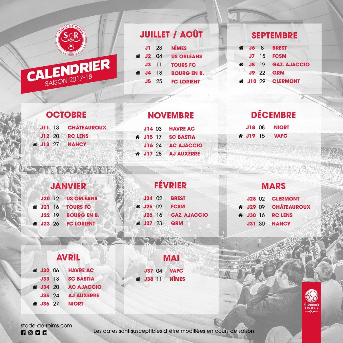 Qrm Calendrier.Stade De Reims On Twitter Vue D Ensemble Sur La Saison