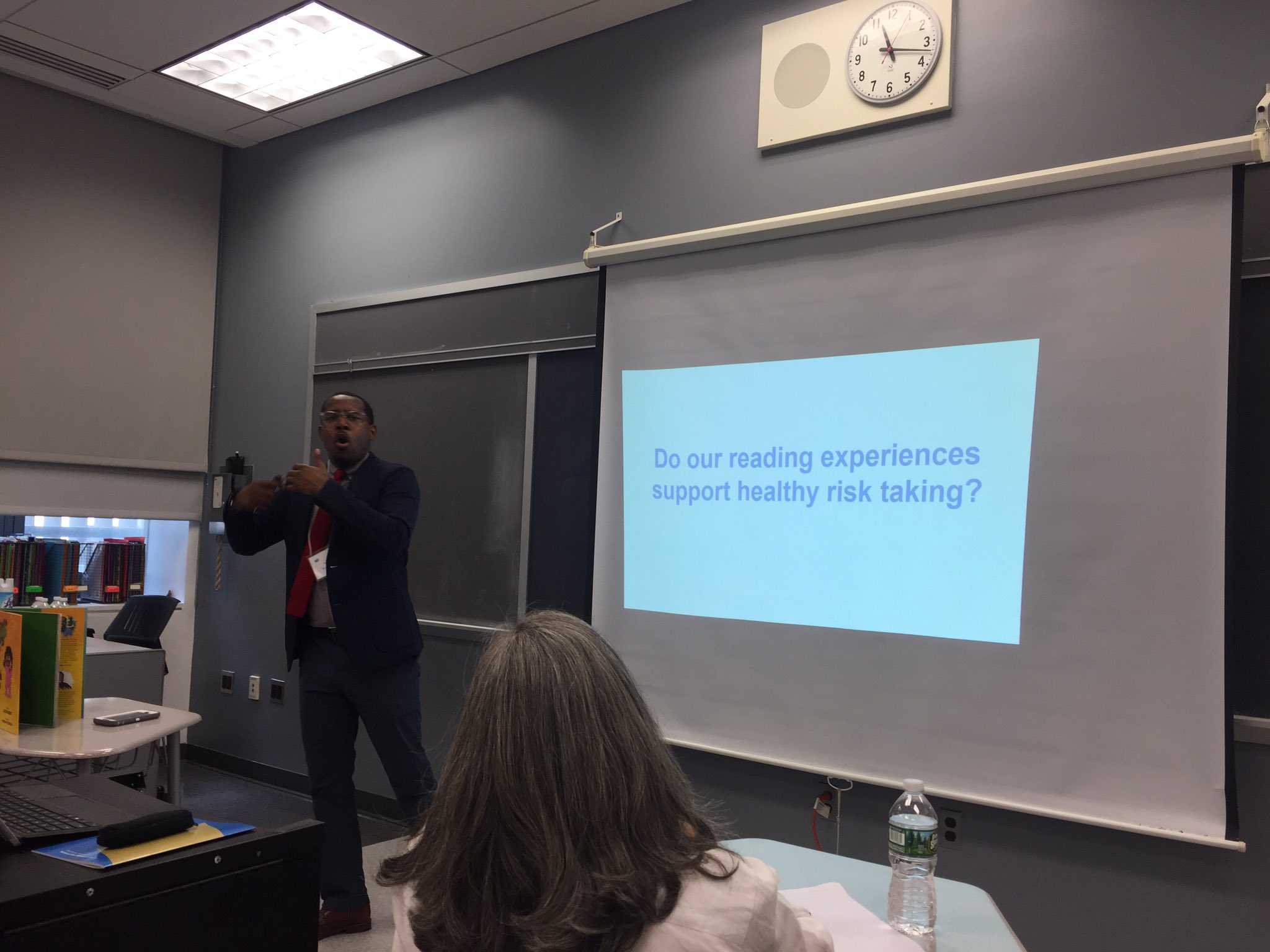 Do our reading experiences support healthy risk taking? @AlvinIrby #readingmatters #nyc @nationalbook https://t.co/OSnYcpd6oR