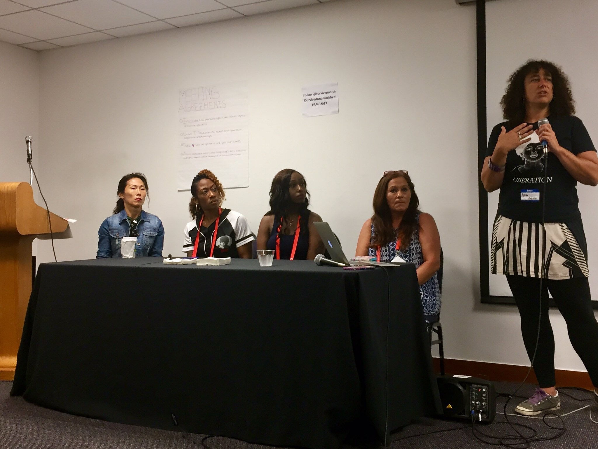 #SurvivedandPunished panel w/ Nan-Hui Jo, Marissa Alexander, Cherelle Baldwin, Bella Robinson @survivepunish #amc2017 #FreeThemAll https://t.co/l4o7vcxxaG