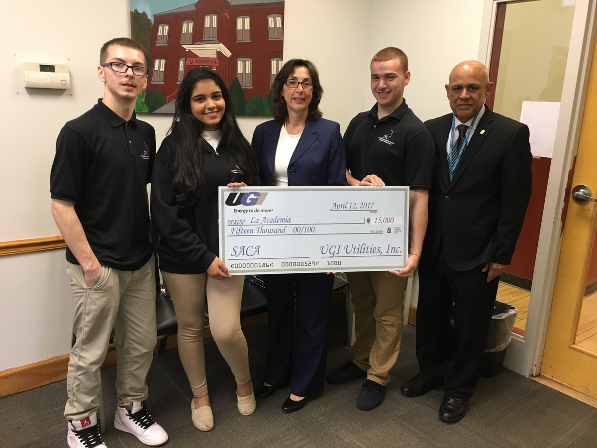 test Twitter Media - UGI presents $15,000 for the Spanish American Civic Association to support the La Academia Charter School in Lancaster. https://t.co/ncSLs8SRoK