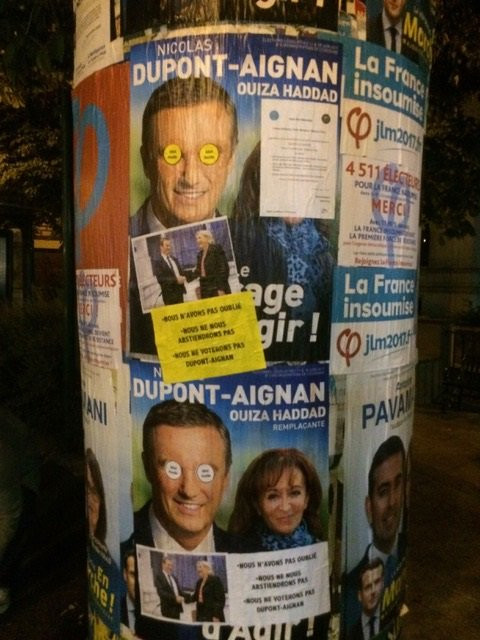 Nous n'oublions pas. Nous ne donnerons pas notre voix à #Dupont-Aignan #Circo9108 #Yerres #Brunoy #Montgeron #Vigneux #Crosnepic.twitter.com/fbi6IqDup1