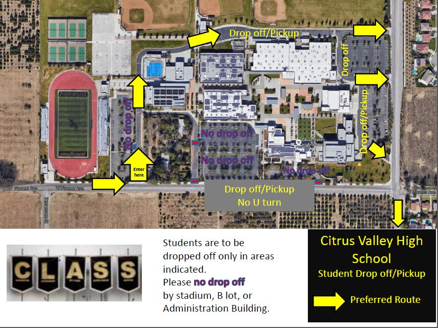Redlands USD on Twitter Please see the map of designated drop off
