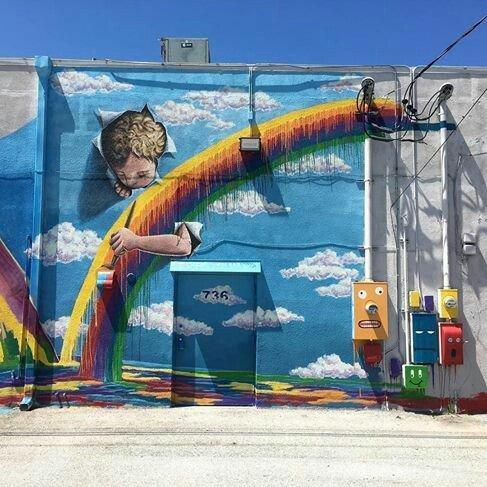 Street art Jennifer Chaparro #PalmBeach #Floride <br>http://pic.twitter.com/rhE50Fu5AA