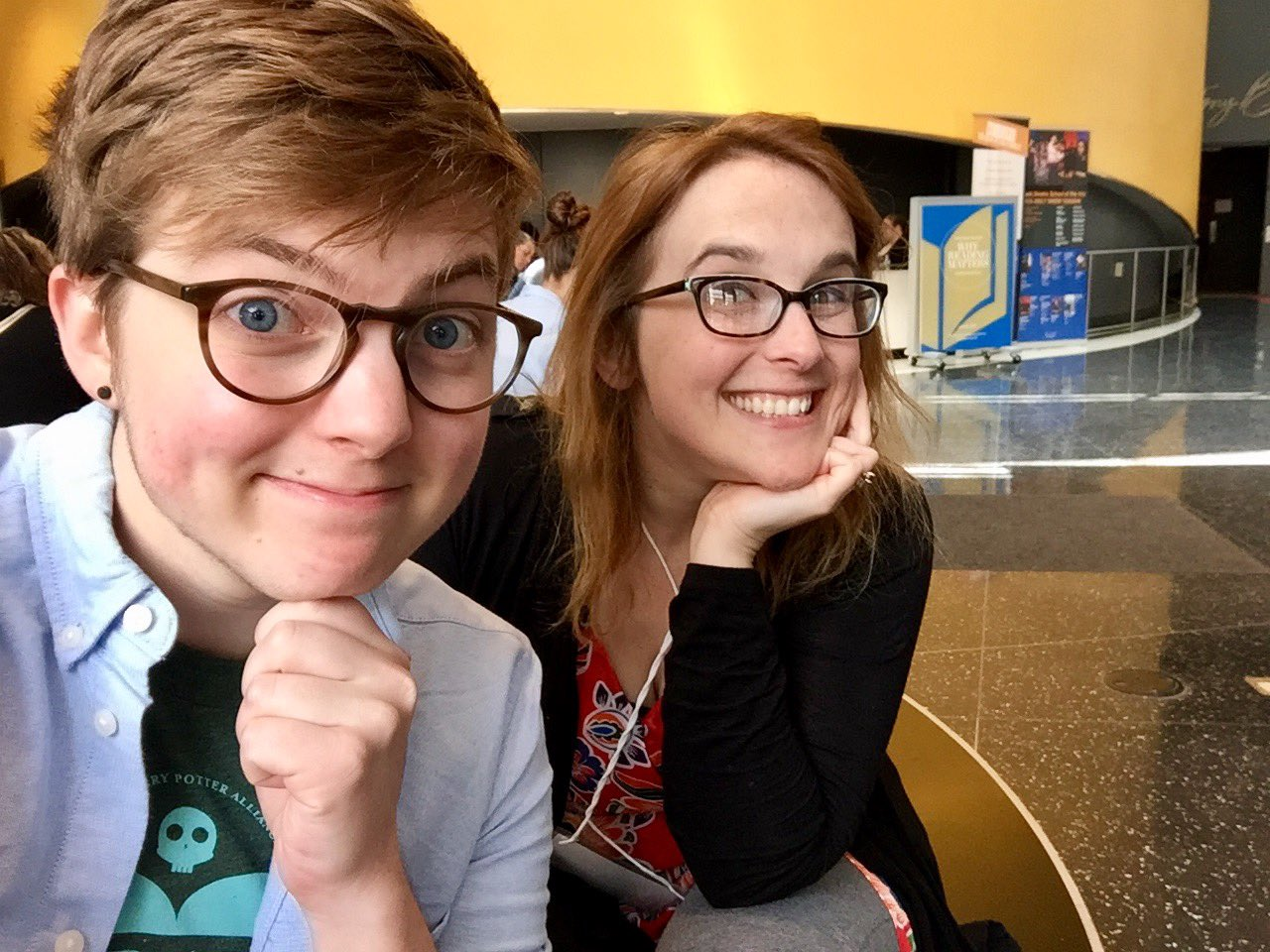 Katie & Jack are at @nationalbook's #readingmatters conference hanging out with cool book ppl & turning them into wizard activists 📚⚡️ https://t.co/CT9ArLN8wN