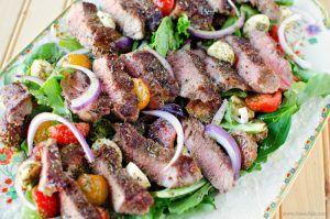 Low Carb Pesto Steak Salad Recipe