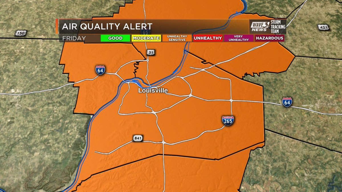 AIR QUALITY ALERT: Code Orange - Unhealthy for Sensitive Groups - on F...