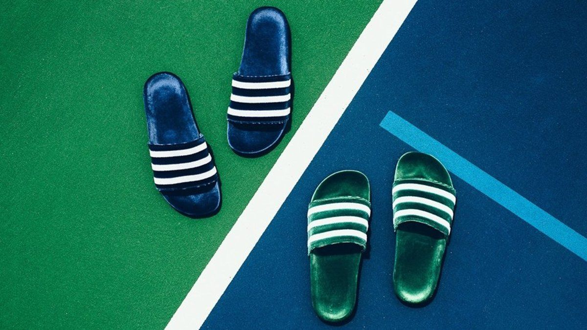 a255f96ca adidas are releasing their iconic adilette slide in velvet