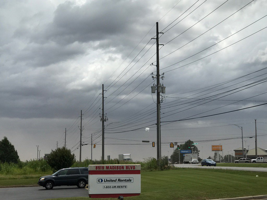 Another view west on Madison Blvd. Huntsville, AL @weatherchannel @Bra...