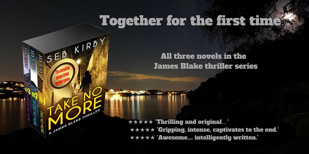 The James Blake thriller series box set...