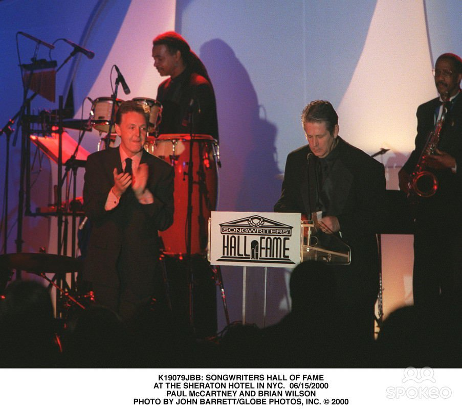 Beach Boys Legacy On Twitter Brian Wilson And PaulMcCartney At The Songwriters Hall Of Fame Induction Awards A Day Like This In 2000