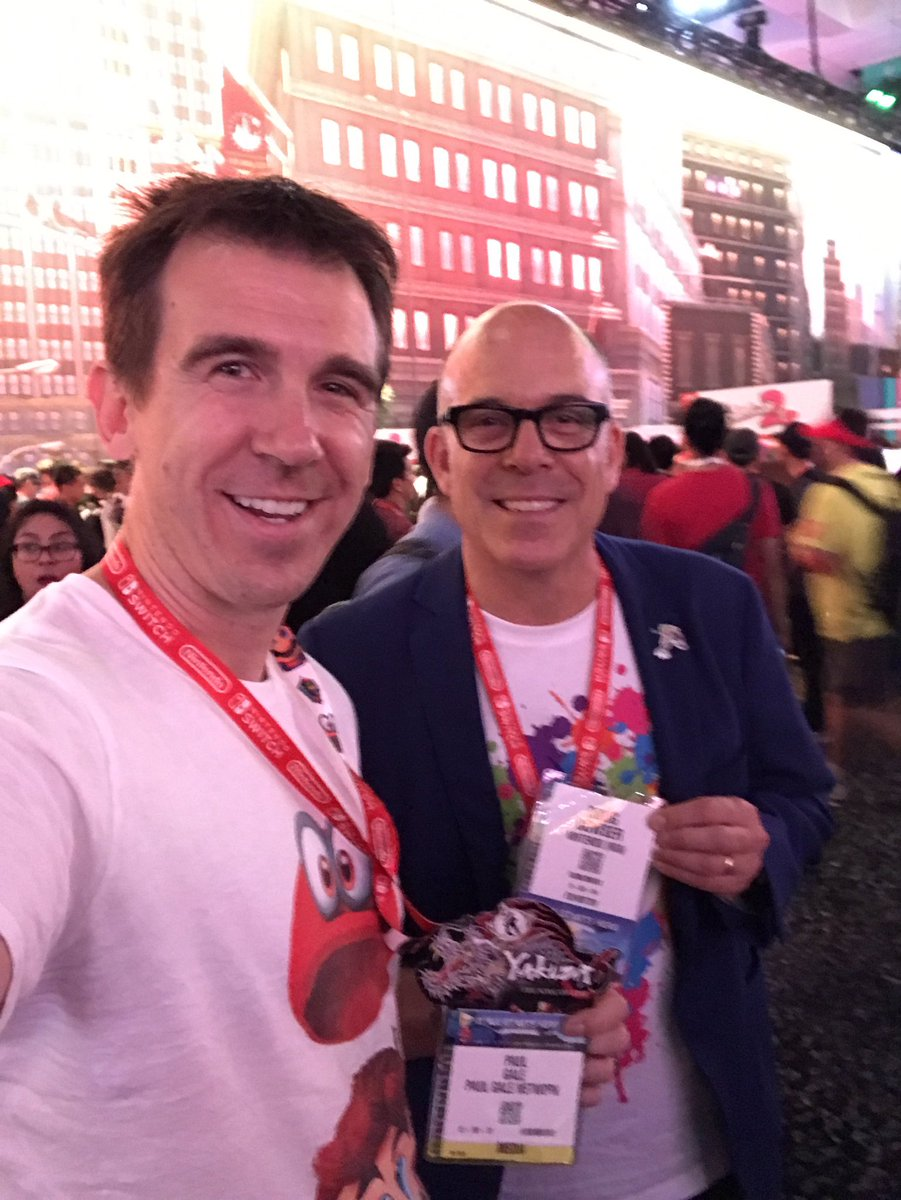 Nintendo of America's new President, Doug Bowser, with Paul Gale Network at E3 2017