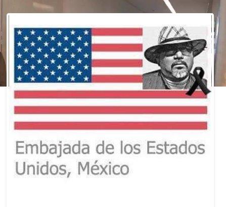 La Embajada de EU en México, rinde homenaje a #JavierValdez en su portal de Facebook, a un mes de su asesinato #NuestraVozEsNuestraFuerza https://t.co/ZHpio0qQB3