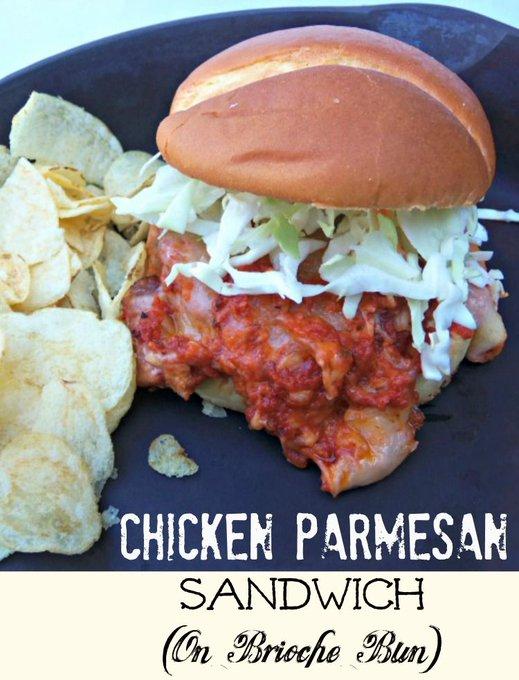 Chicken Parmesan Sandwich (Simple Recipe Using Milford Valley Chicken Patties)!