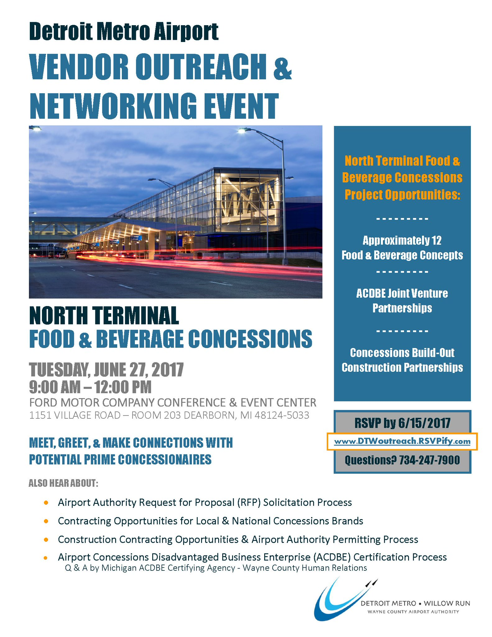 Dtw airport on twitter its the final day to rsvp for detroit dtw airport on twitter its the final day to rsvp for detroit metro airports vendor outreach networking event xflitez Choice Image