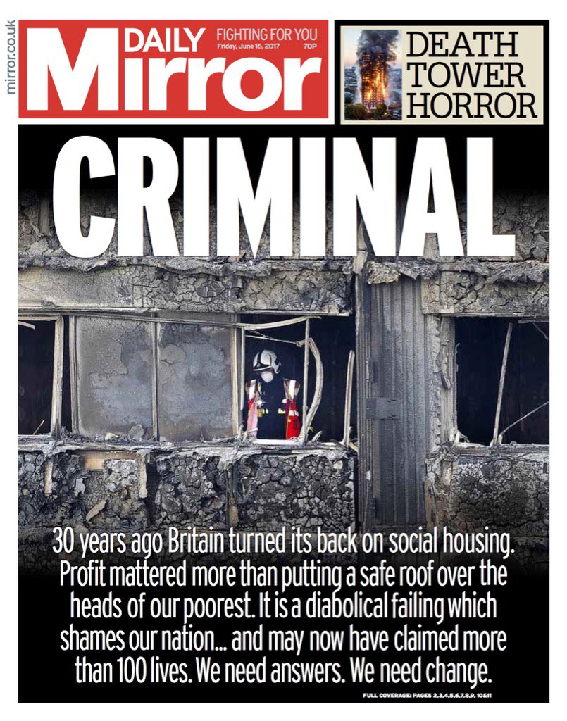 Friday's Daily MIRROR: 'CRIMINAL' #bbcpapers #tomorrowspaperstoday (via @AllieHBNews) https://t.co/fB3aZHLDIn