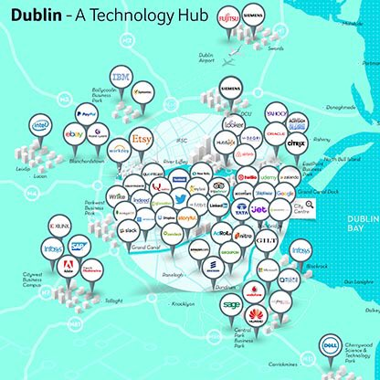 Dublin On Map Of Ireland.Ida Ireland On Twitter Our Latest Dublin Tech Map Is At Https T