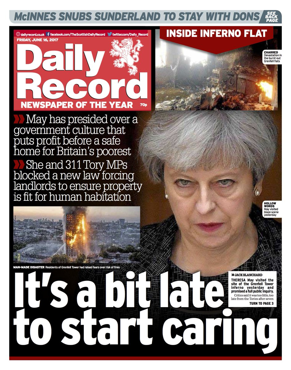 Here is a first look at tomorrow's Daily Record front page  #scotpapers https://t.co/L12YOrImez
