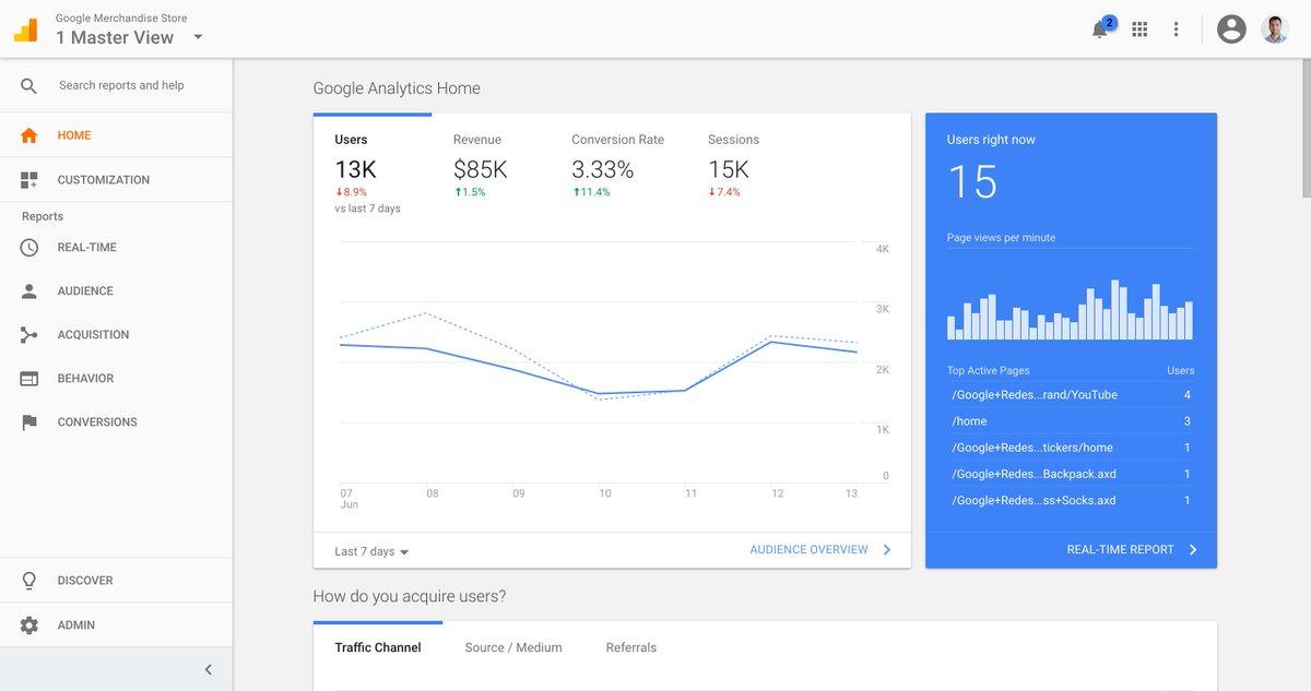 Tampilan baru Google Analytics