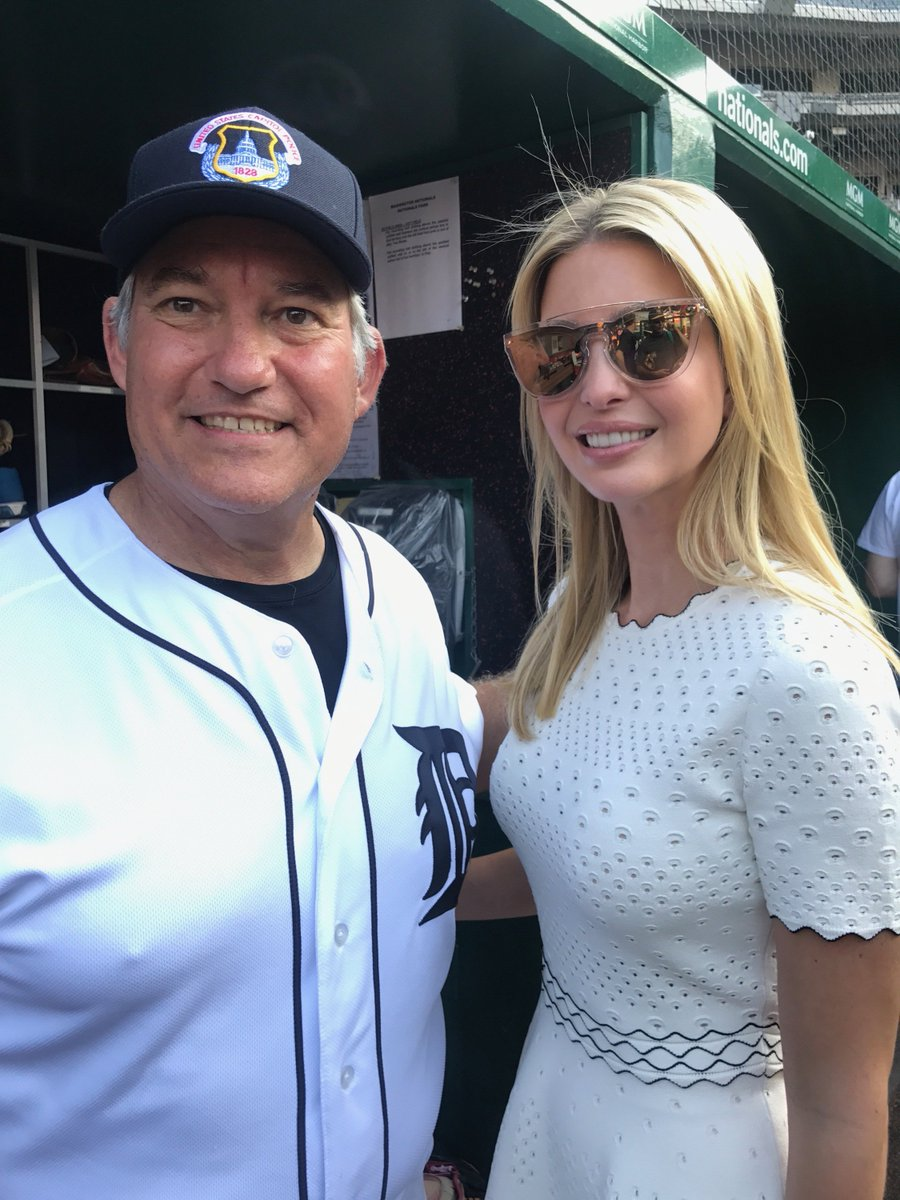 Big thanks to @IvankaTrump for coming out to support the #CongressionalBaseballGame! https://t.co/QfEEygpvGh