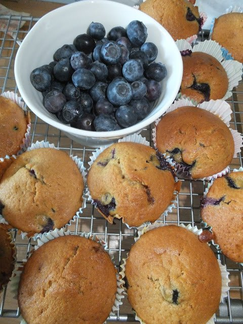 Cooking with Kids: Blueberry Muffins