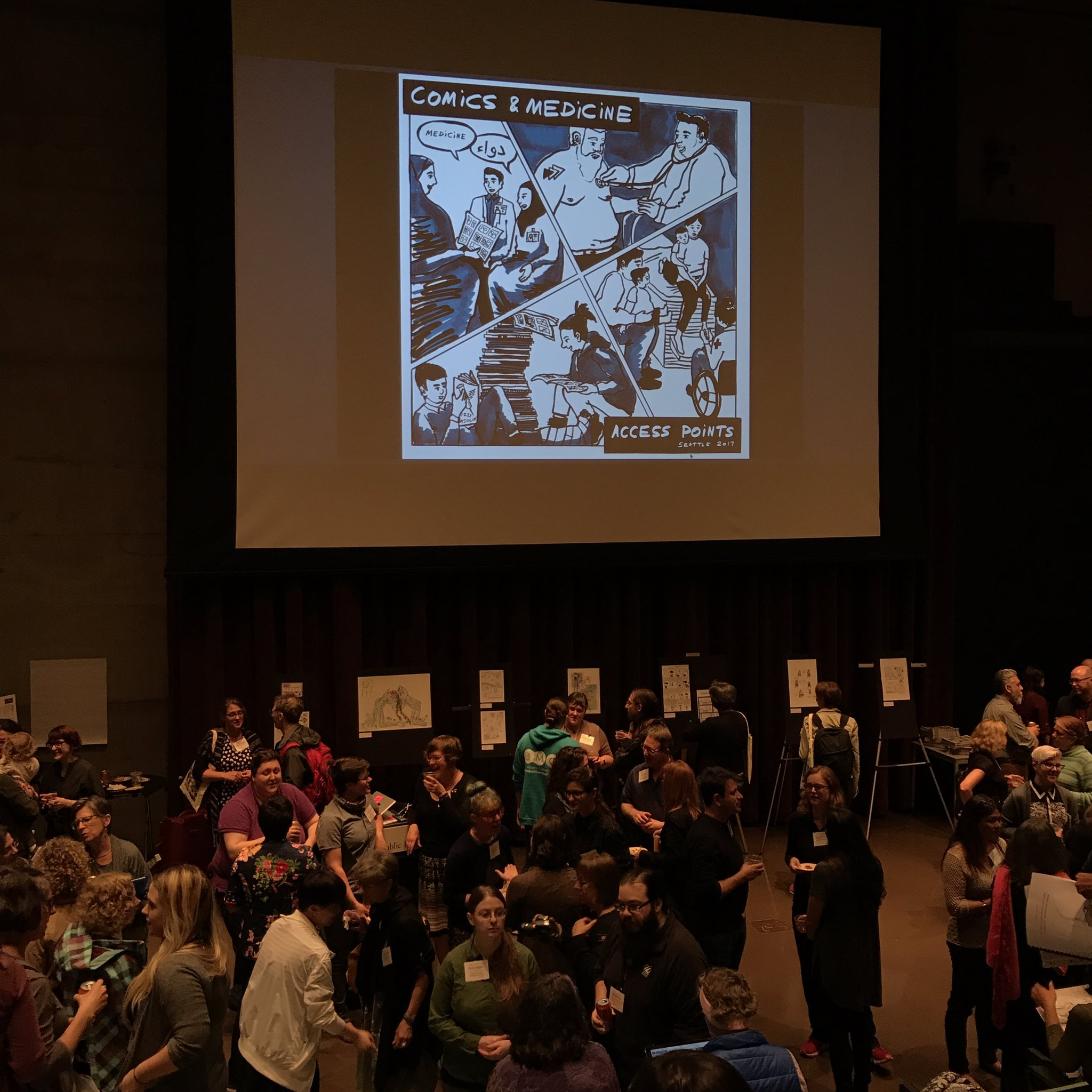 Opening reception for Graphic Medicine 2017 #ComicsMedicineSeattle https://t.co/7hpXMvwfDY
