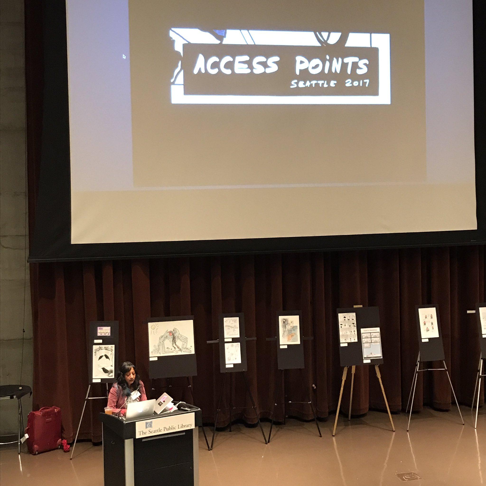 Access is about multiplicity #ComicsMedicineSeattle https://t.co/mMIEcNbvQ4