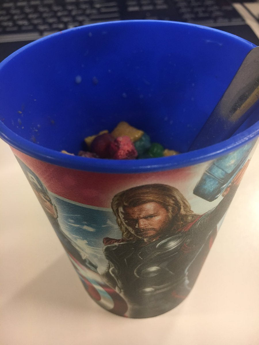 I think I'm the only adult in the world eating Cap'n Crunch cereal fro...