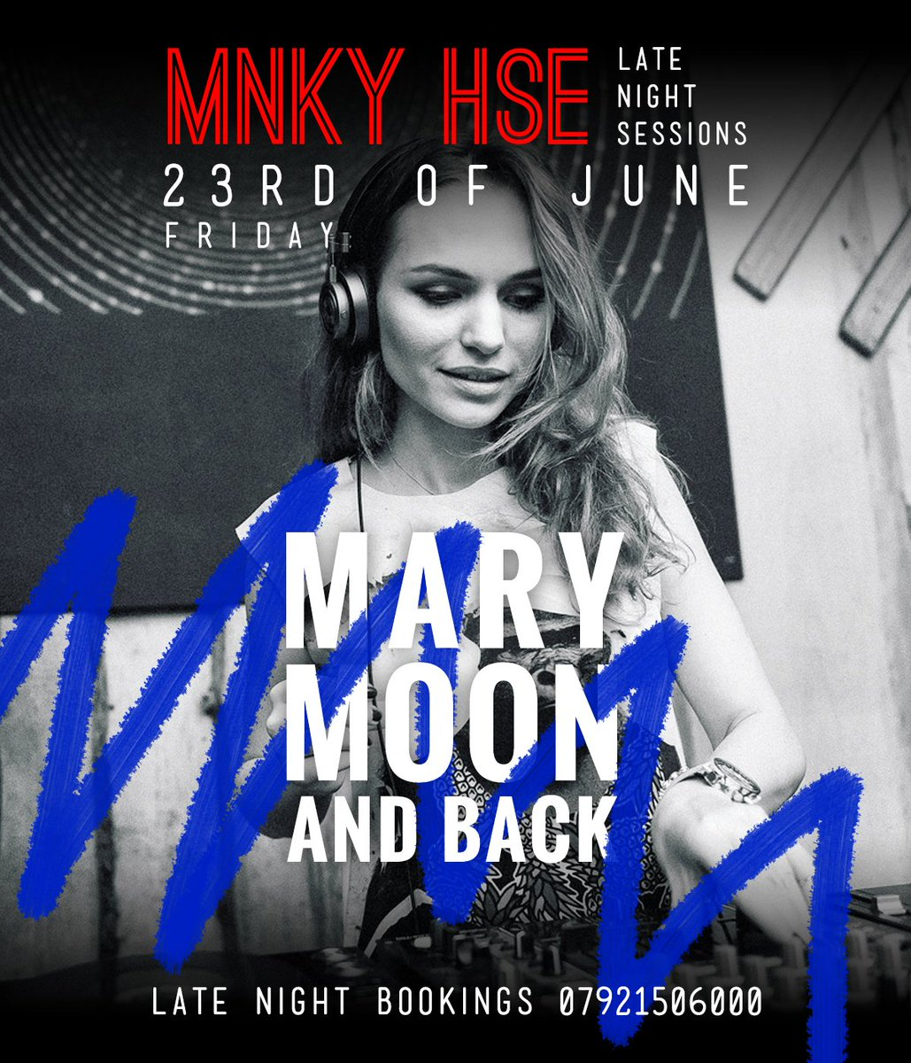 Marymoon is back in London! Catch her musical ryths tonight at @mnky_hse #dj #london #mnkyhse #djset #fridaynight #fridayfeeling #marymoon<br>http://pic.twitter.com/SAeYUQrrIX