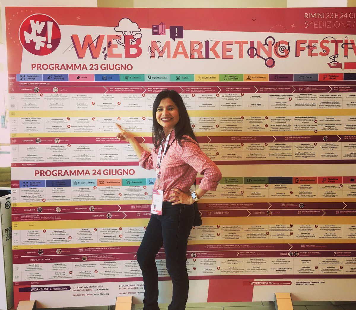 Ciao #WMF17 🙌 see you in the SEO room at 2 pm 😊 don't miss my #ecommer...