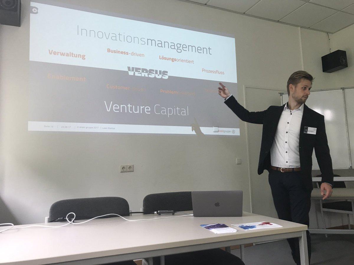 #ITMCC17 @jabopiti #Innovation Management is admin of ideas but no #customercentricity. Better go with a #VentureCapital model!#LeanStartup<br>http://pic.twitter.com/CeZrsGZIjD &ndash; bij Bibliothek Informatik Uni HH